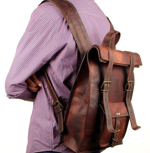 Big Roll Backpack with Adjustable Padded Straps by Hulsh