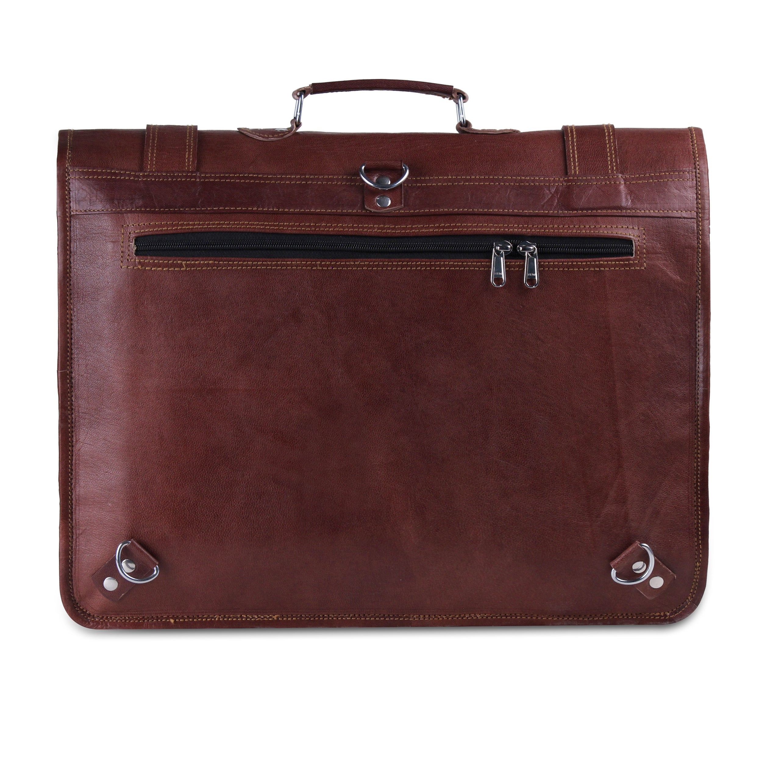 Leather Messenger Bag with convertible straps