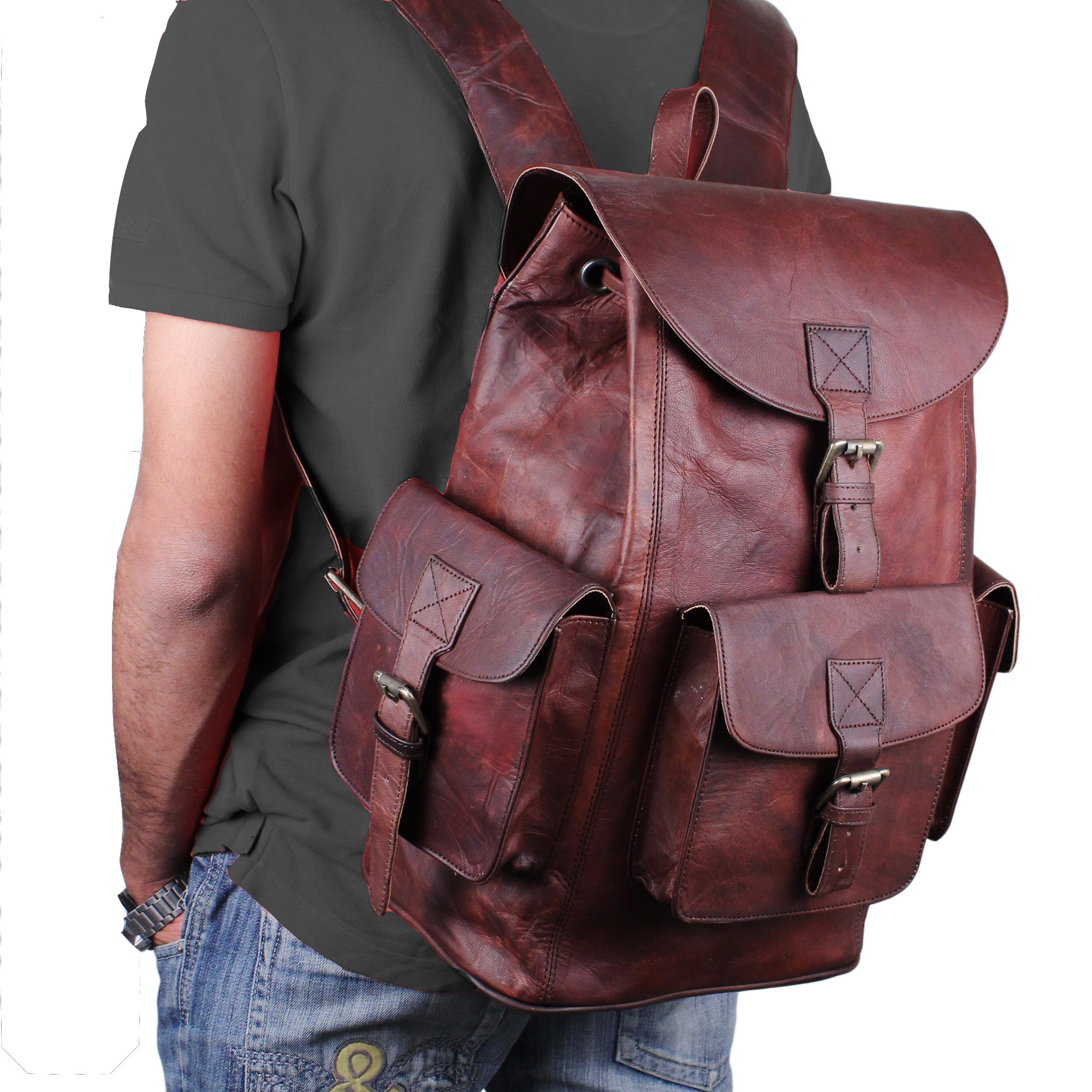 Leather Backpack by Hulsh