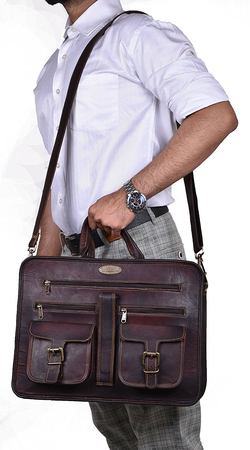 "The Heritage 15.6"" Leather Briefcase"