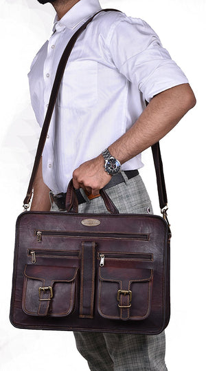 Large Leather Messenger Bag for office, professionals etc.