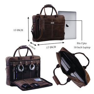 Brown Laptop bag with Top Handle