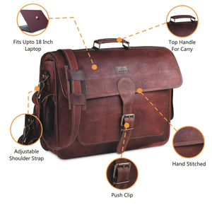 Vintage Leather Messenger Bag by Hulsh
