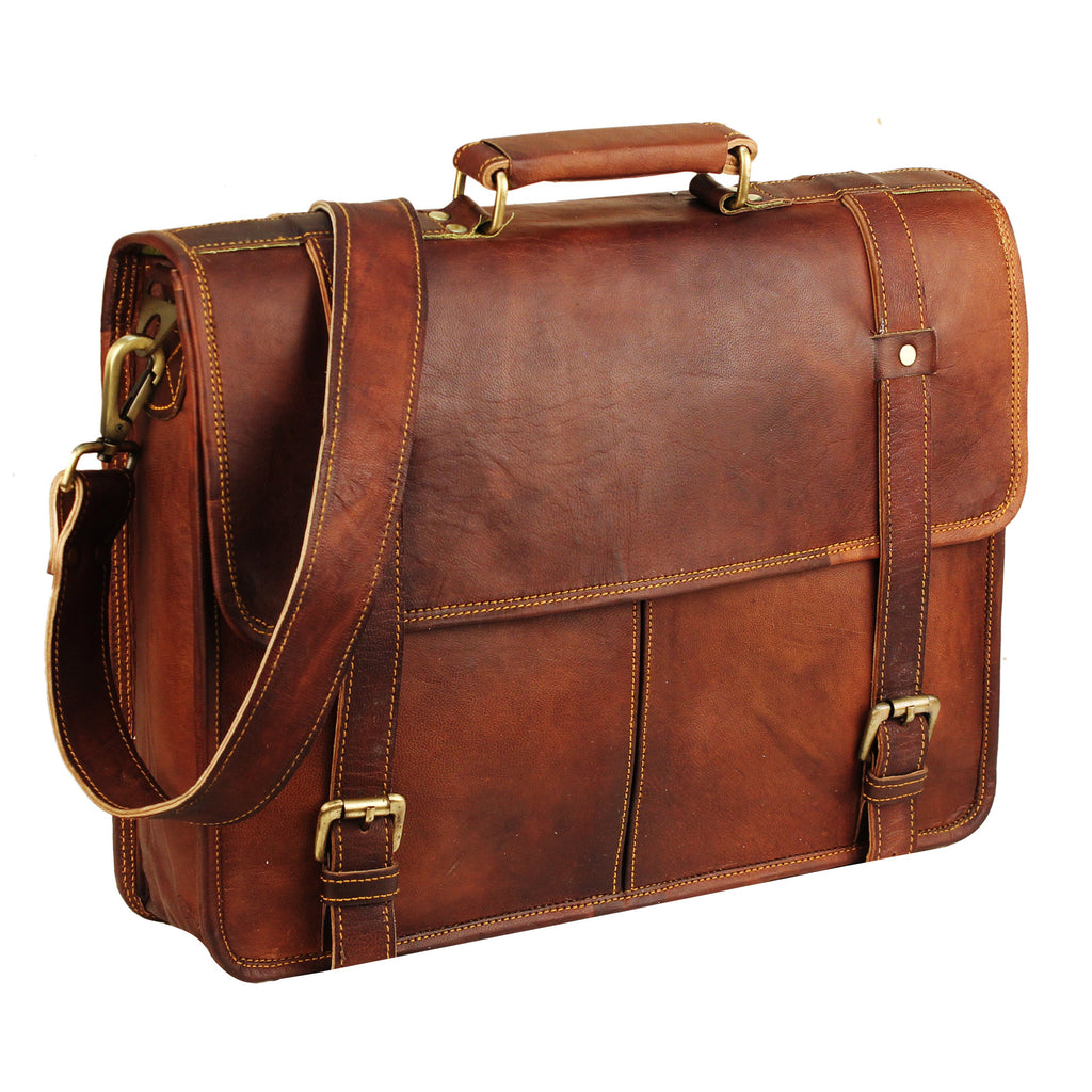 leather messenger briefcase bag
