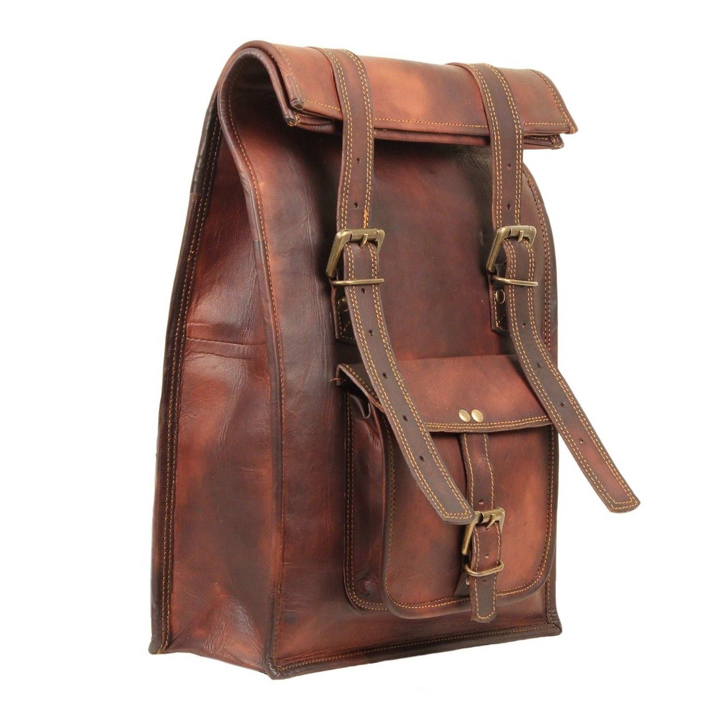 Convertible Leather Backpack by Hulsh
