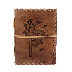 Leather Journal Tree of Life - Writing Notebook and Travel Diary