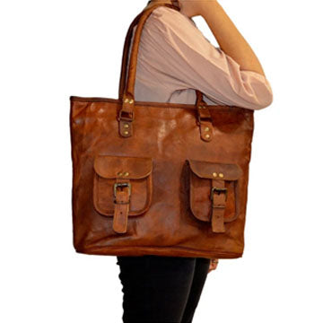Women's Leather Tote Handbag