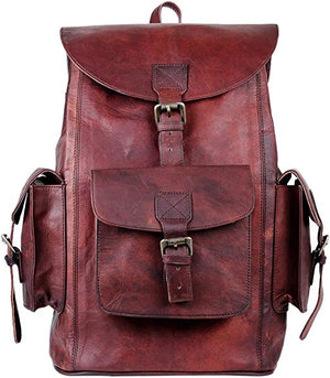 Big Brown Leather Backpack by Hulsh