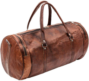 Large Round Travel Duffle Bag with Top Handle and adjustable strap