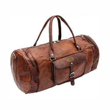 Genuine Vintage Rustic Large Leather Duffle Bag