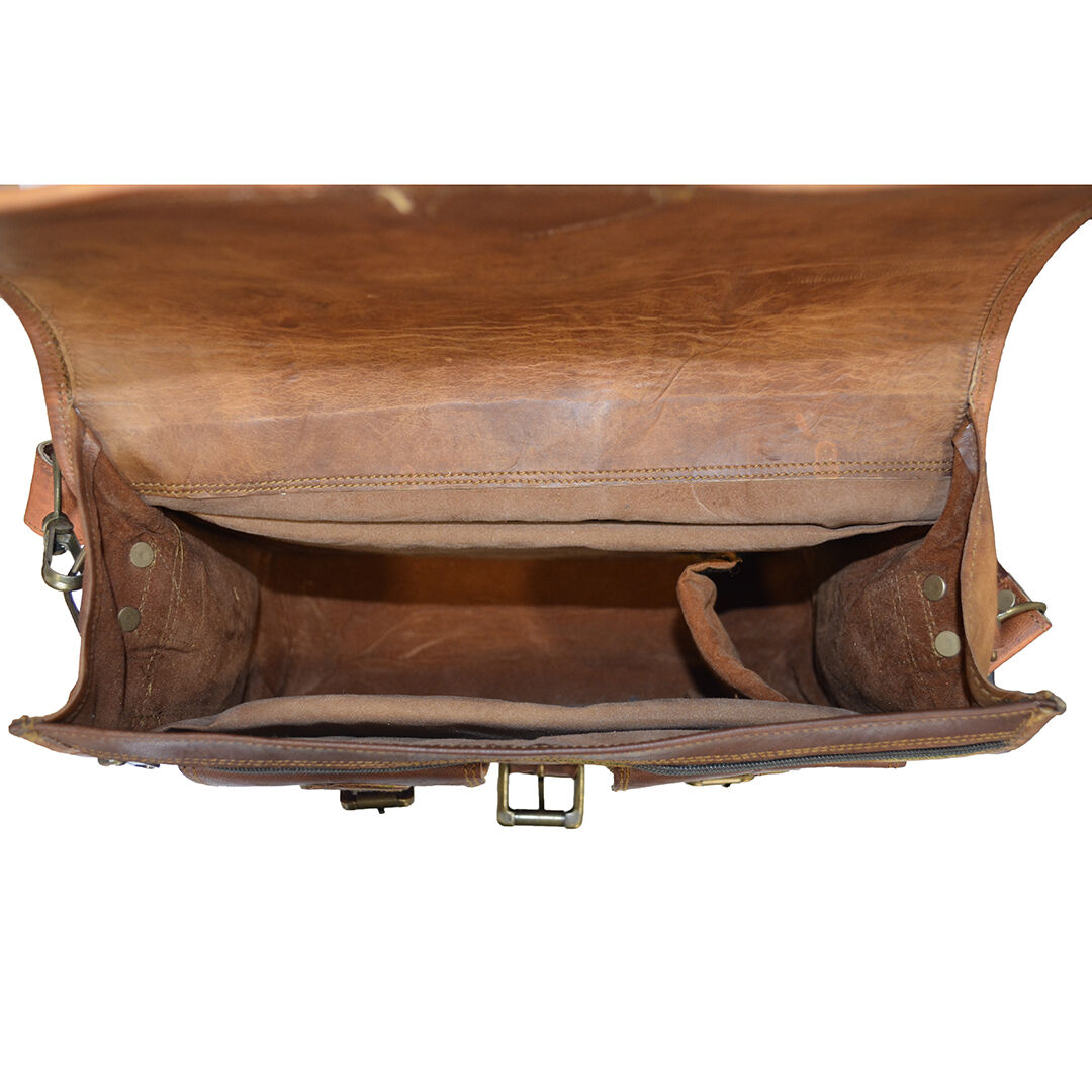 Leather Messenger Bag for camera by Hulsh