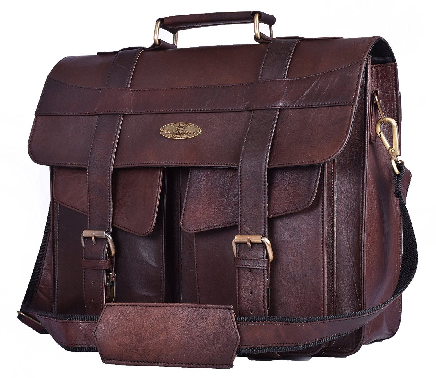 Mahi Leather Messenger Laptop Bag