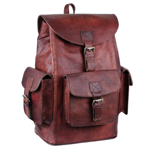 Genuine Leather Large Backpack with adjustable strap