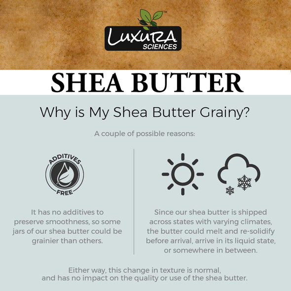 Luxura Sciences Shea Butter - Why Is My Shea Butter Grainy.