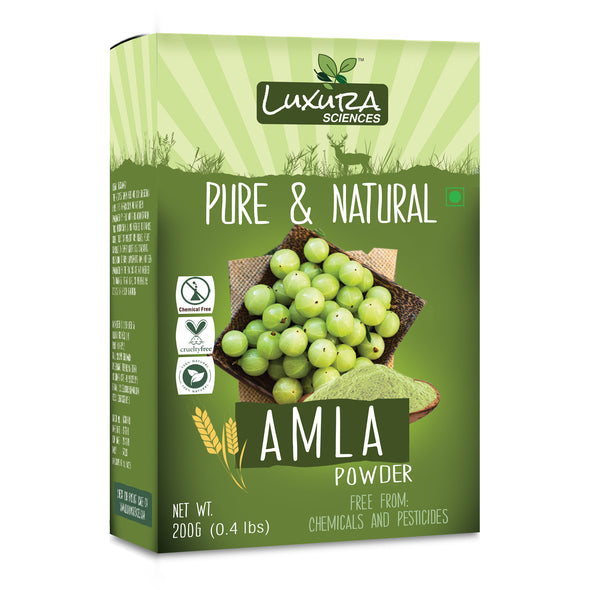 Luxura Sciences Pure Amla Powder For Hair Growth 200 Grams.