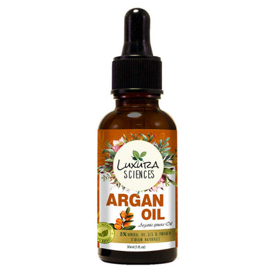 Luxura Sciences Organic Moroccan Argan Oil for Skin, Nails & Hair Growth, Anti-Aging Face Moisturizer, Cold Pressed, Hair Moisturizer, Rich in Vitamin E & Carotenes
