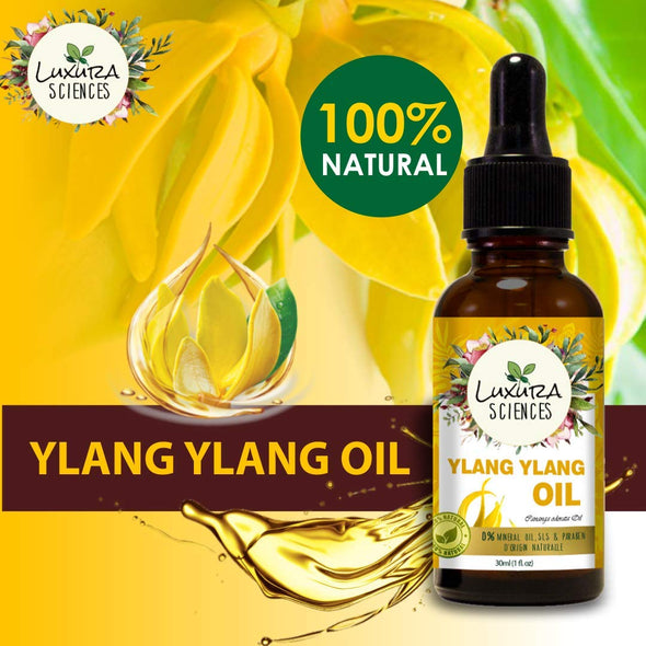 Luxura Sciences Ylang Ylang Essential Oil - Nourishing Radiance for a Confidently Deep Clean- 100% Pure Therapeutic Grade Ylang Ylang Oil