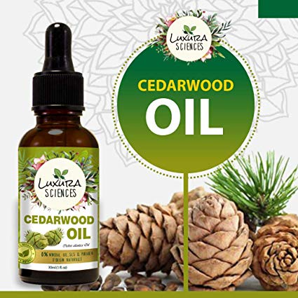 Luxura Sciences Organic Cedarwood Essential Oil (100% PURE & NATURAL - UNDILUTED) Therapeutic Grade - Perfect for Aromatherapy, Relaxation, Skin Therapy & More! (30 ML)