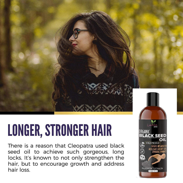 Luxura Sciences Natural Cold Pressed Kalonji Black Seed Hair Oil for Hair Growth (250ml)
