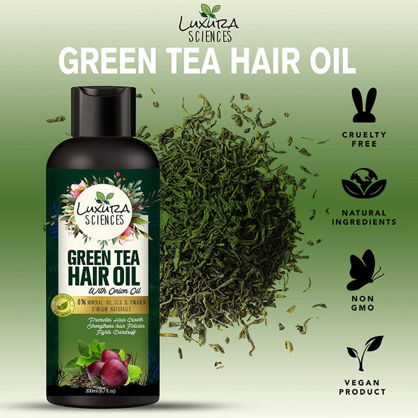 Luxura Sciences Green Tea Hair Oil with Onion Oil 200ml