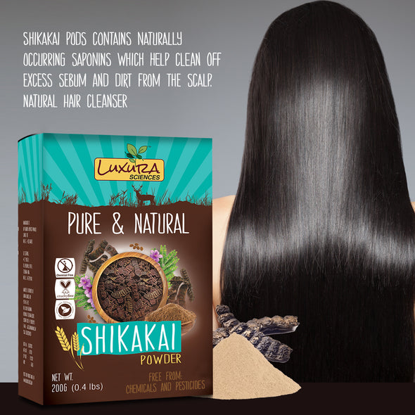 Luxura Sciences Shikakai Organic Natural and Double Filtered Powder for Hair (200 Gms)