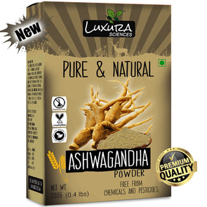 Luxura Sciences Natural Ashwagandha Powder 200 Grams