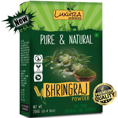 Luxura Sciences Natural Bhringraj Powder for hair growth and conditioning 200 Grams