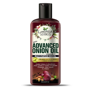Luxura Sciences Advanced Onion Hair Oil 250ml Bottle.
