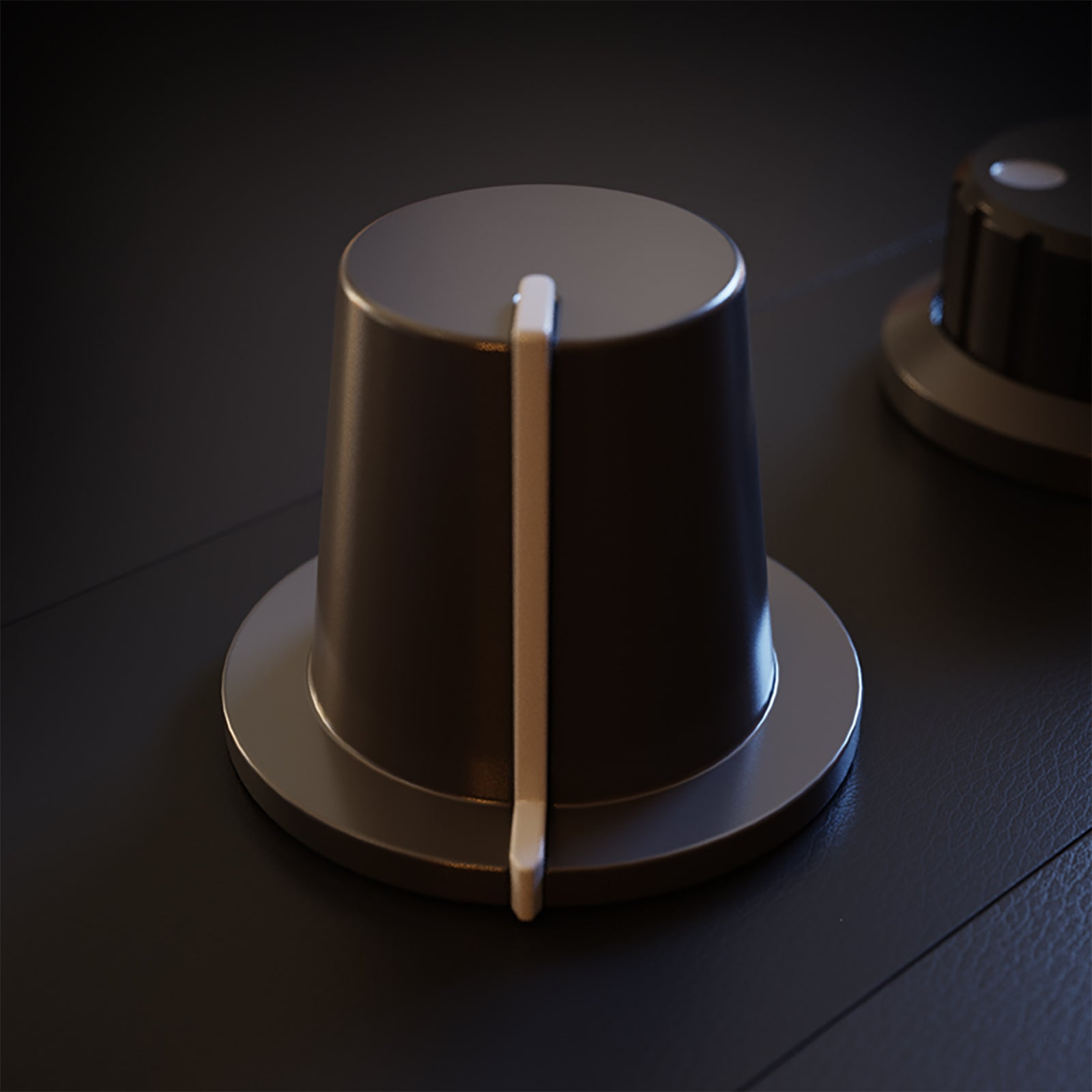 standart audio knob 3d model blend