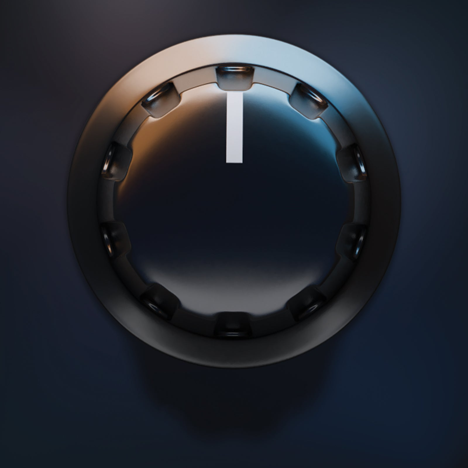 Dark dial audio ribbed knob gui