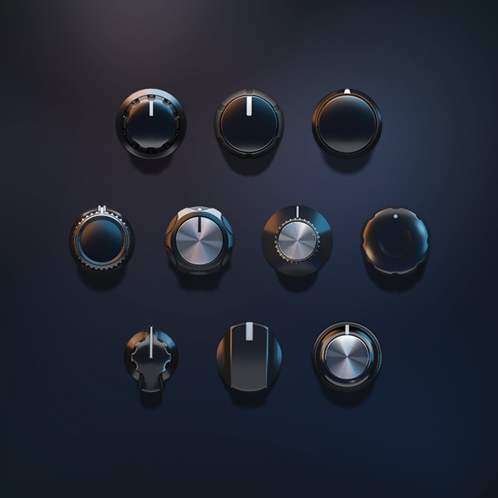 3D knobs audio set