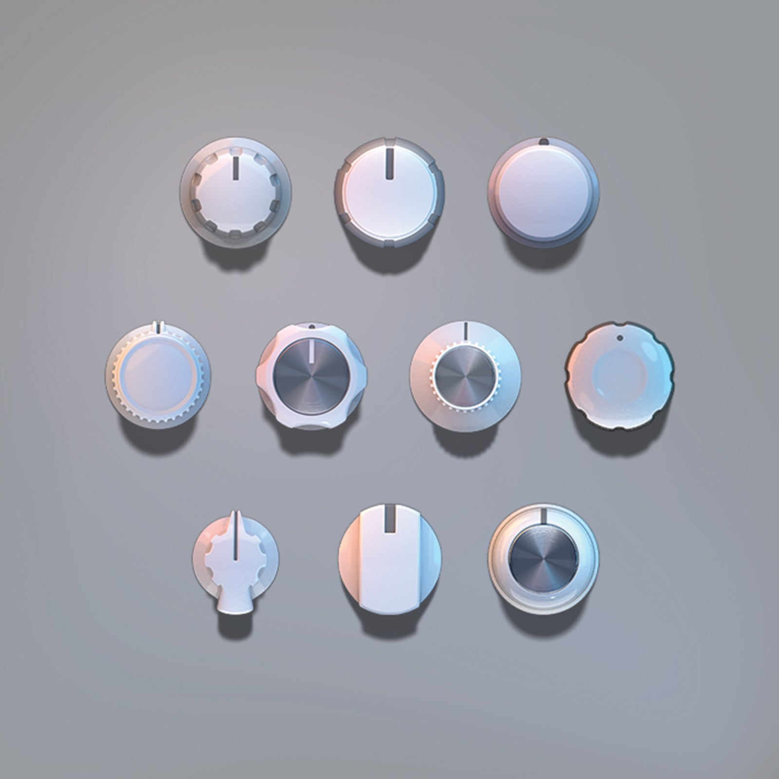 3D light clean knobs audio set