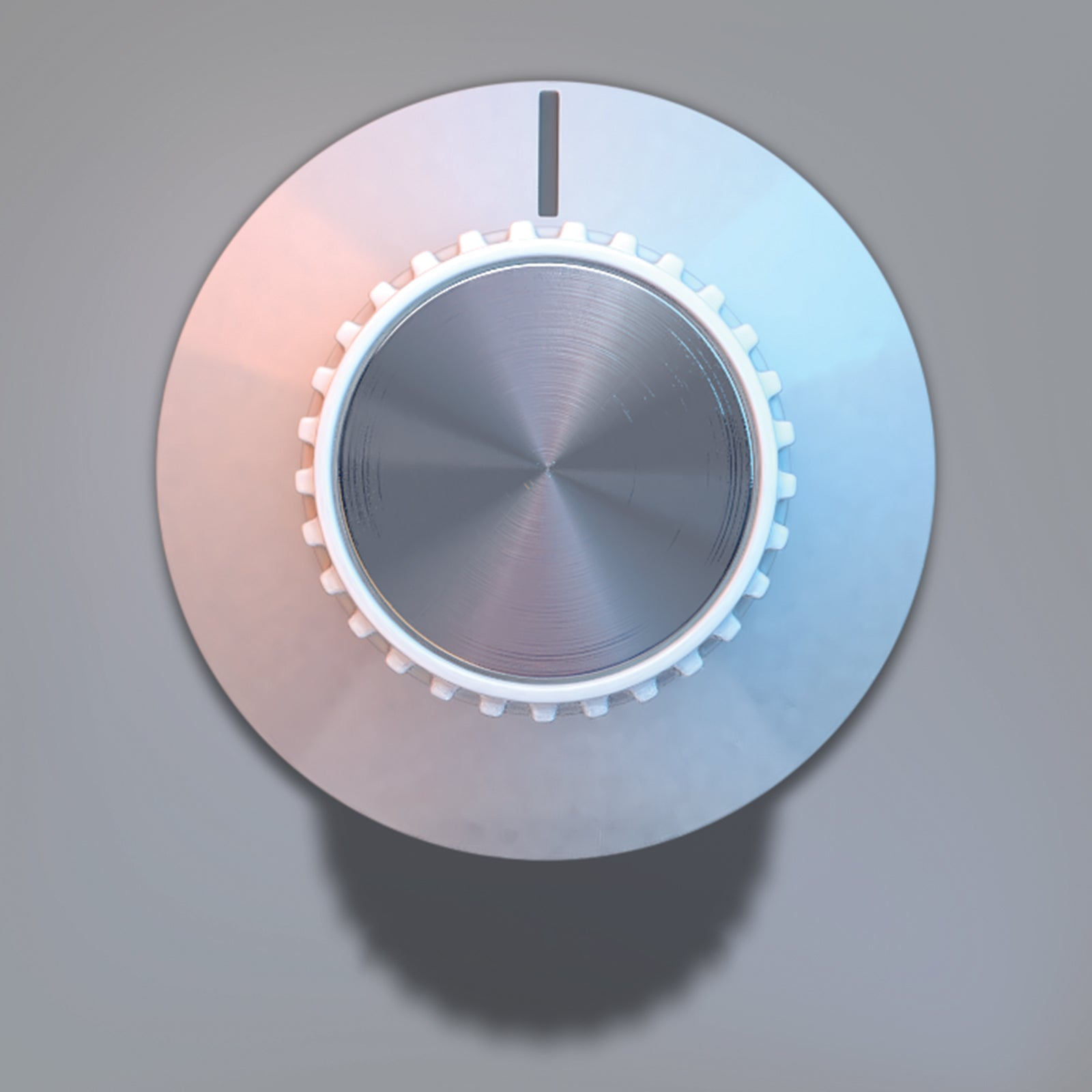 Shaft volume control knob 3D