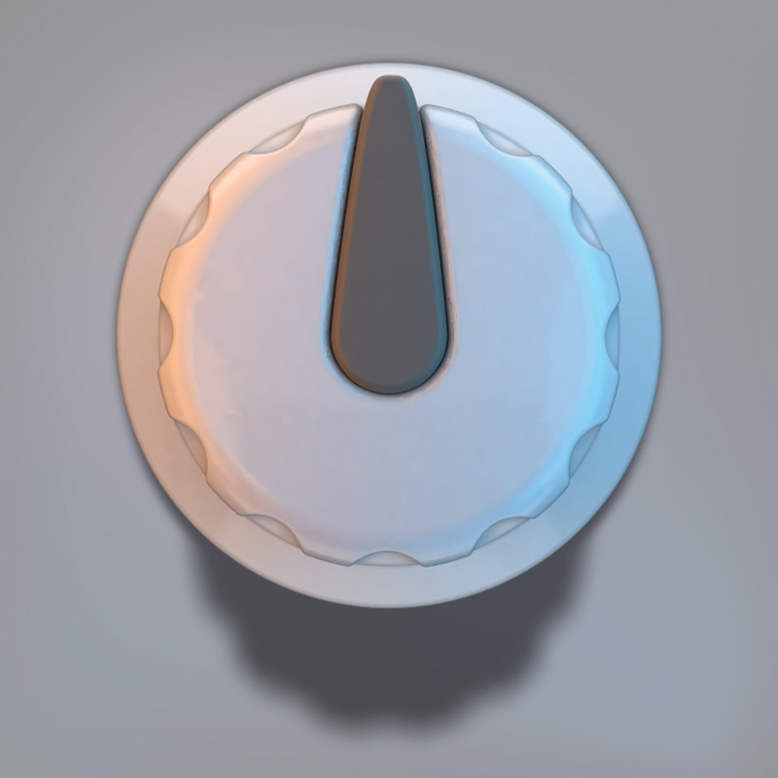 Dial light audio knob 3D model