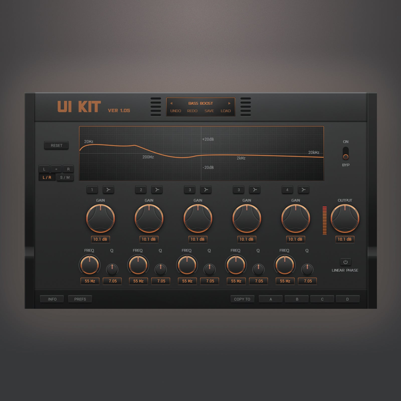 Equalizer new design for audio device