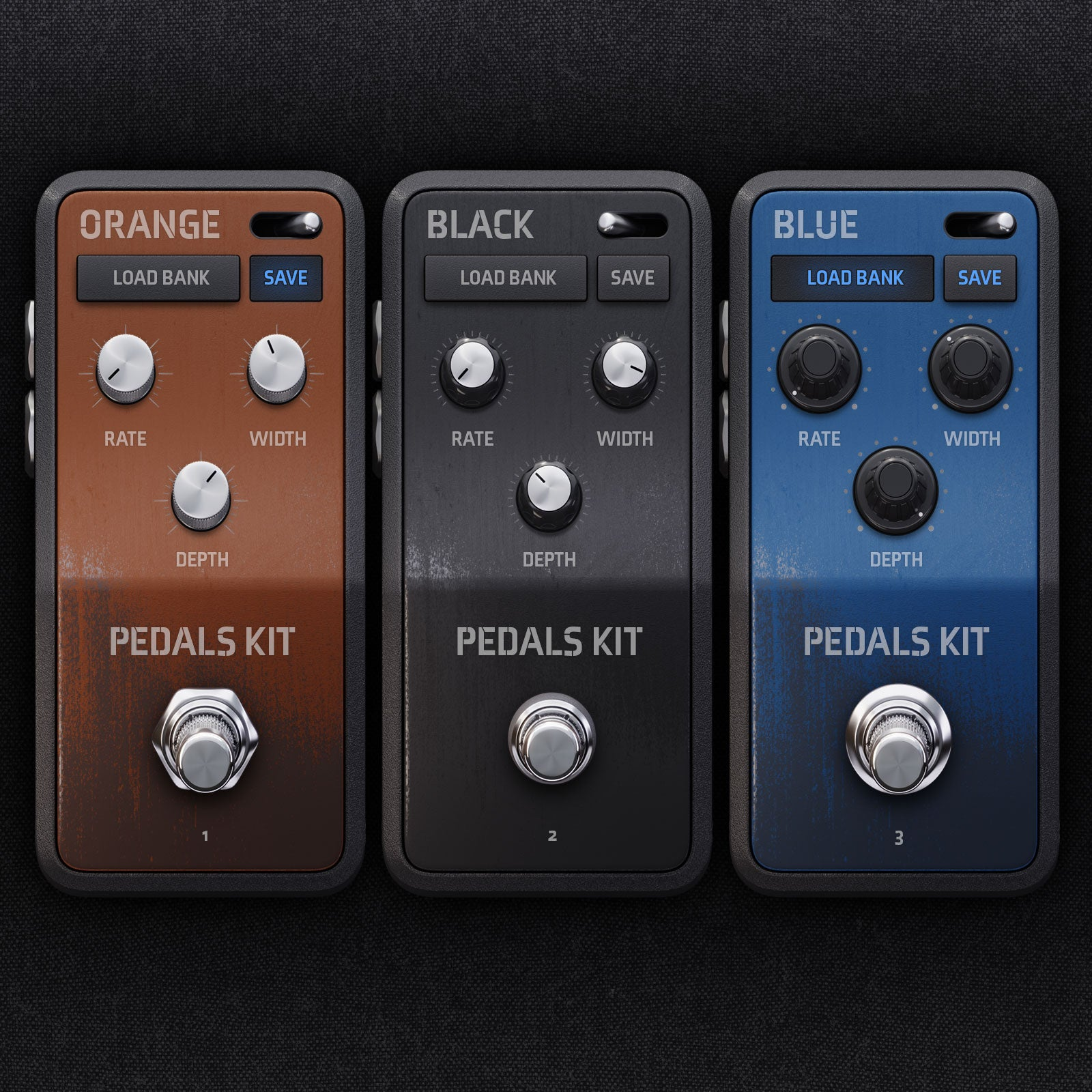 Guitar Pedals Ui for audio device