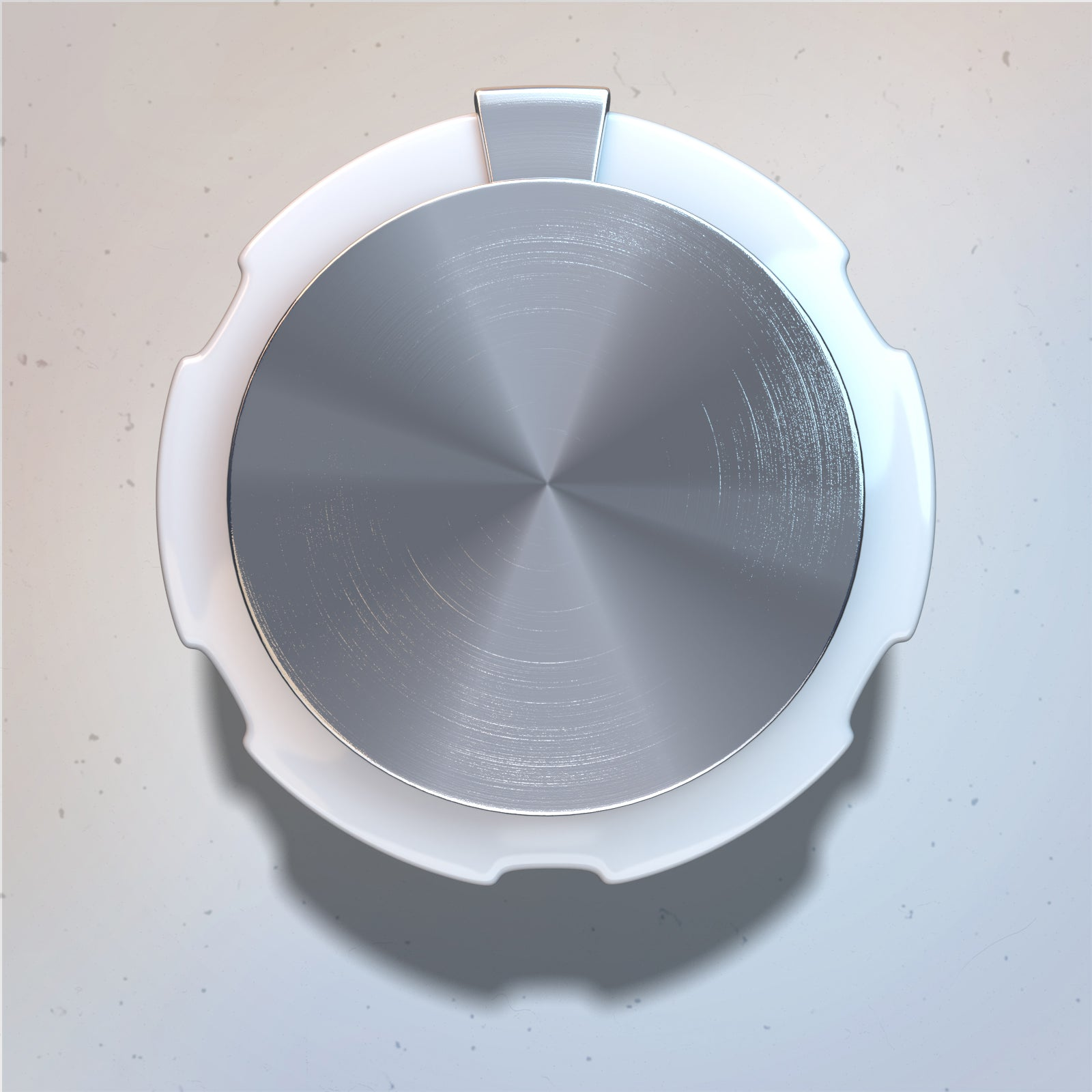 Combined rotary light clean knob 3D render