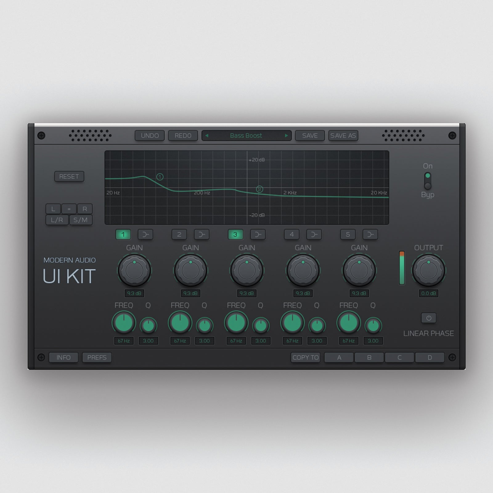 Equalizer Ui controller for audio