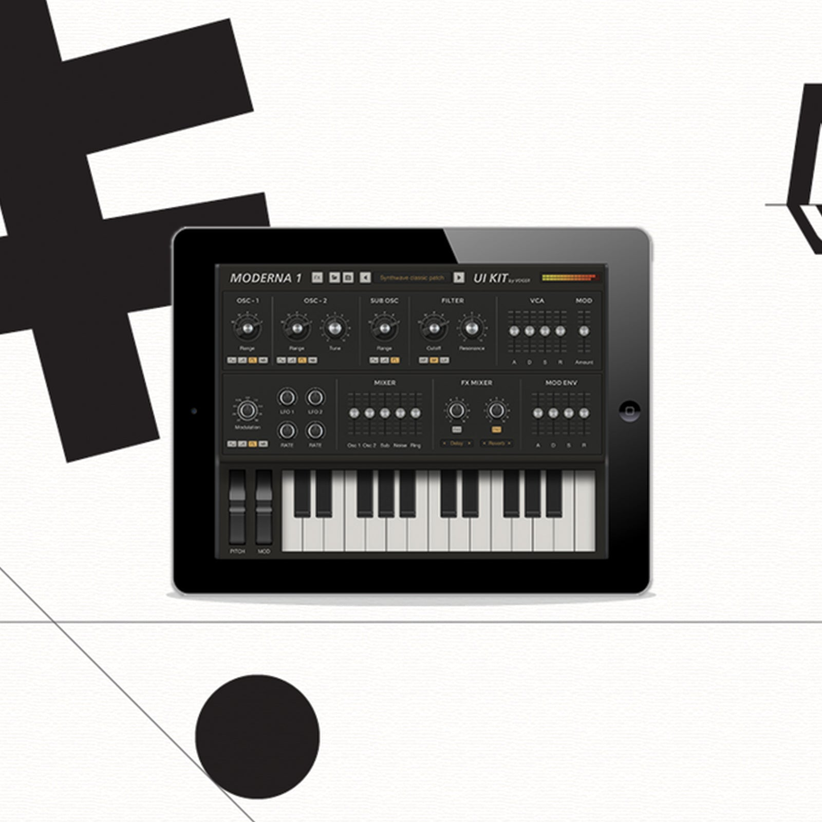 Tablet synth 3D
