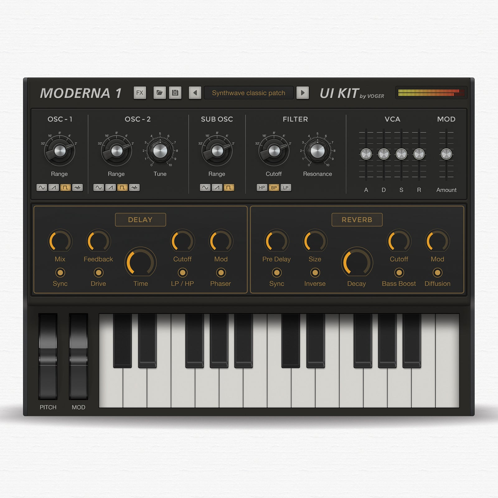 Synth modern controller