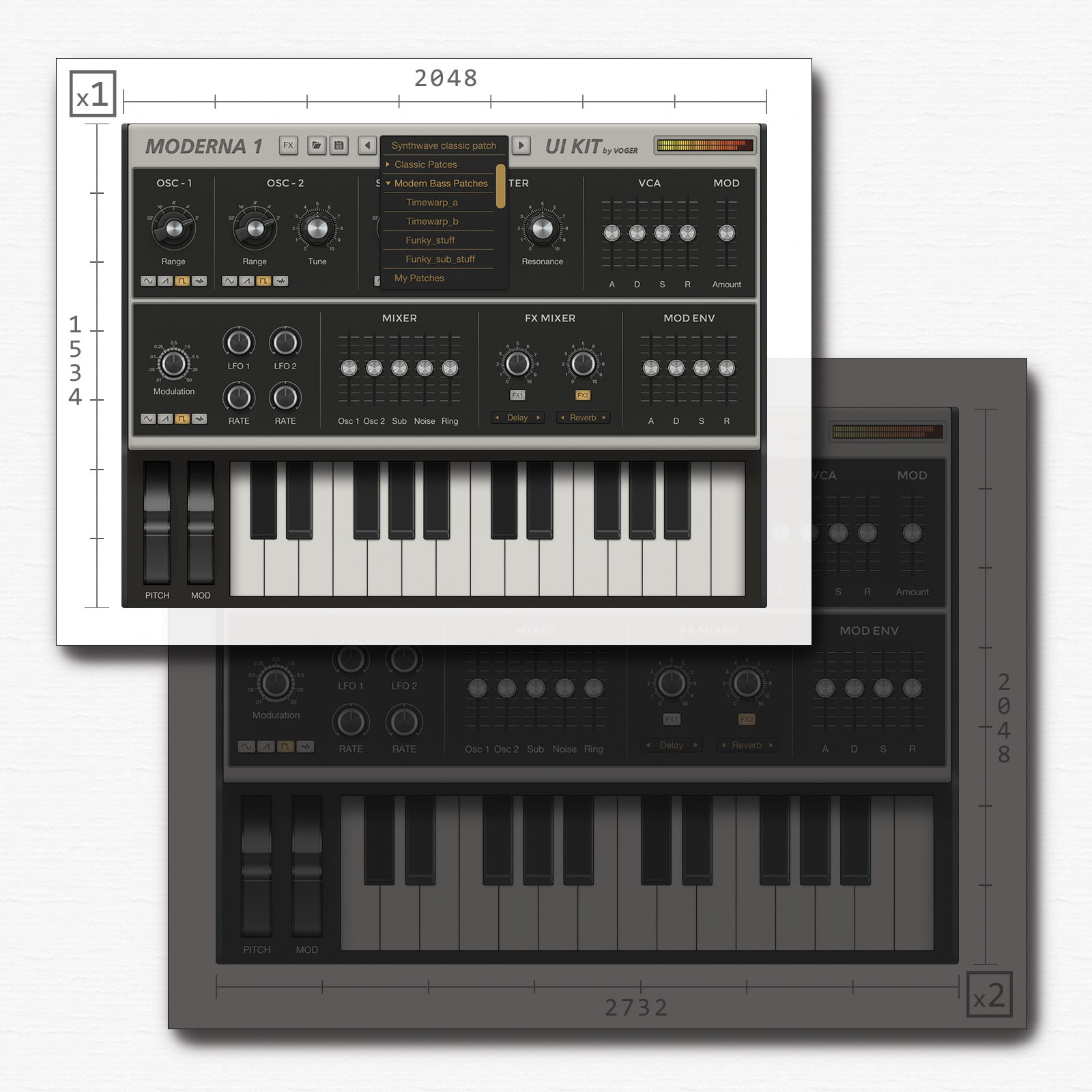Resolution synth for iPad 2048x1534