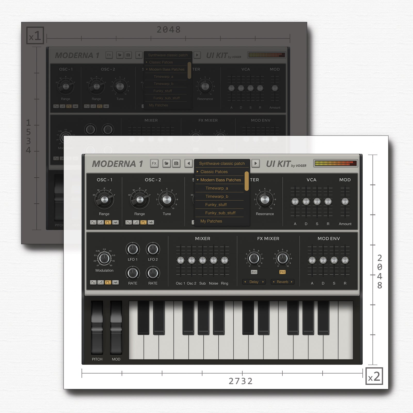 Resolution synth for iPad Pro 2732x2048)