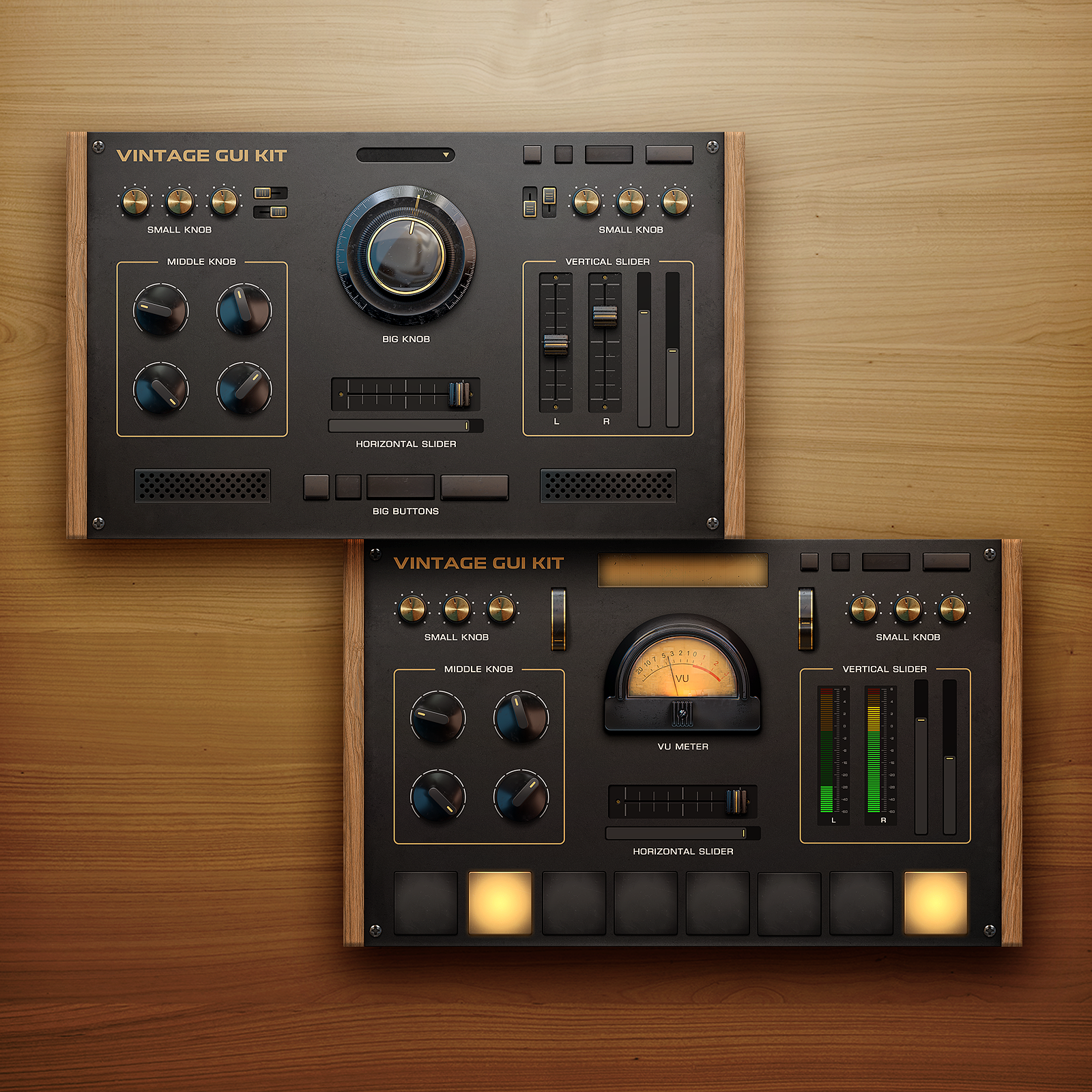 Vintage UI Kit for Audio App or Synth