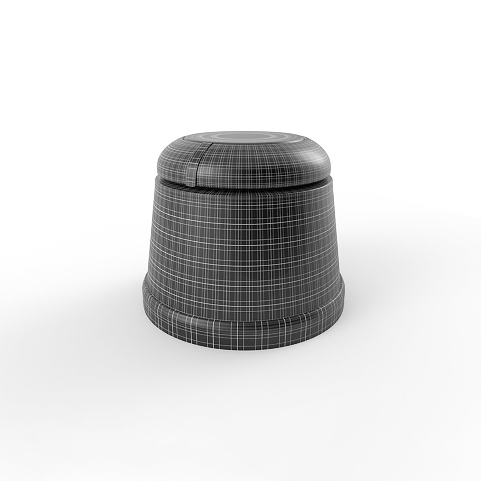 Double section knob 3d model mesh