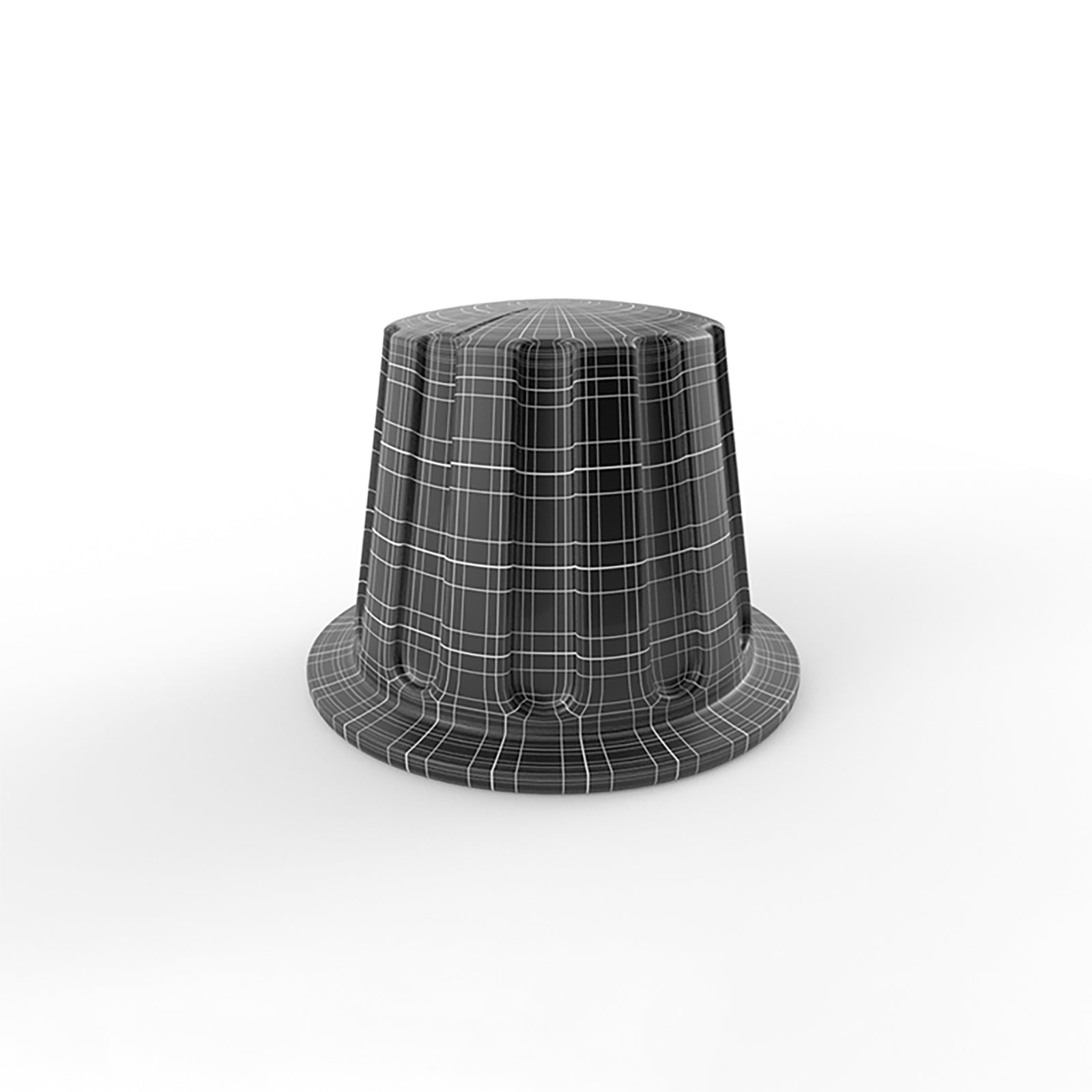 standart ribbed audio knob 3d model mesh