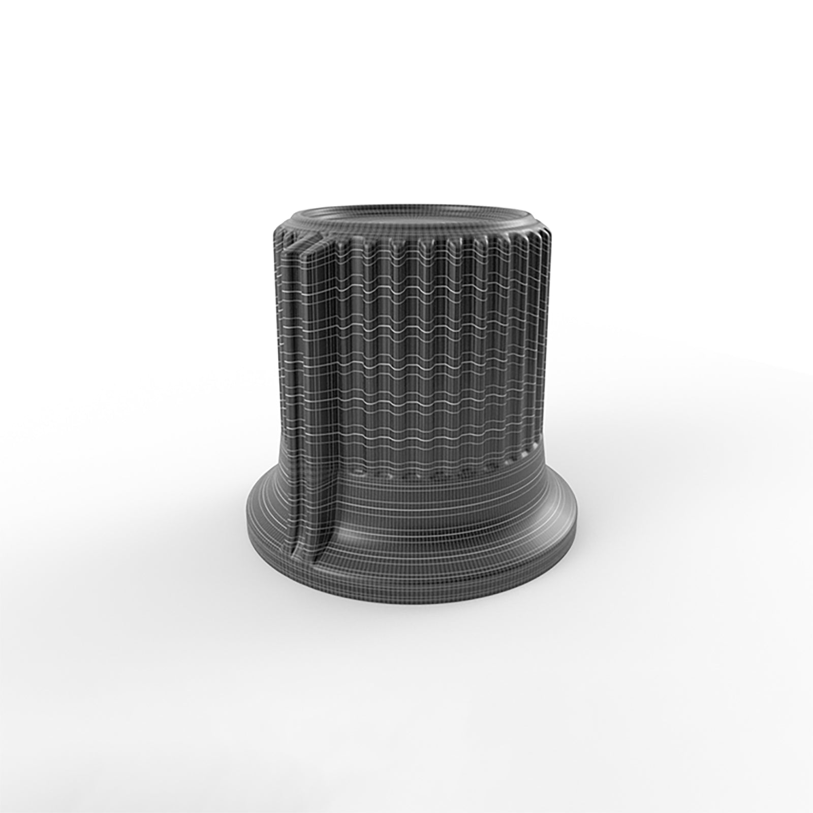 standart ribbed audio knob 3d model v2 mesh