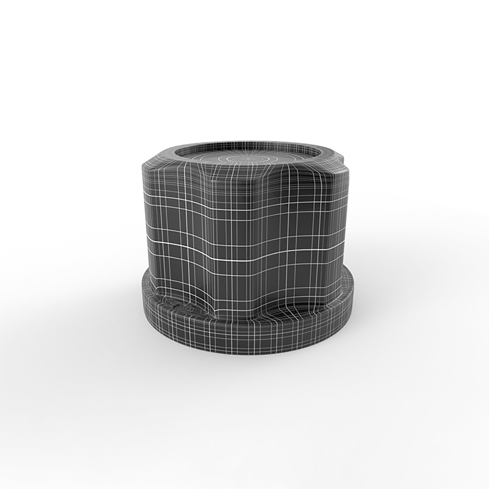Ribbed audio knob 3D model mesh