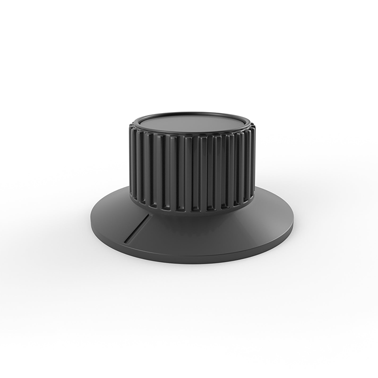 double dial audio ribbed knob