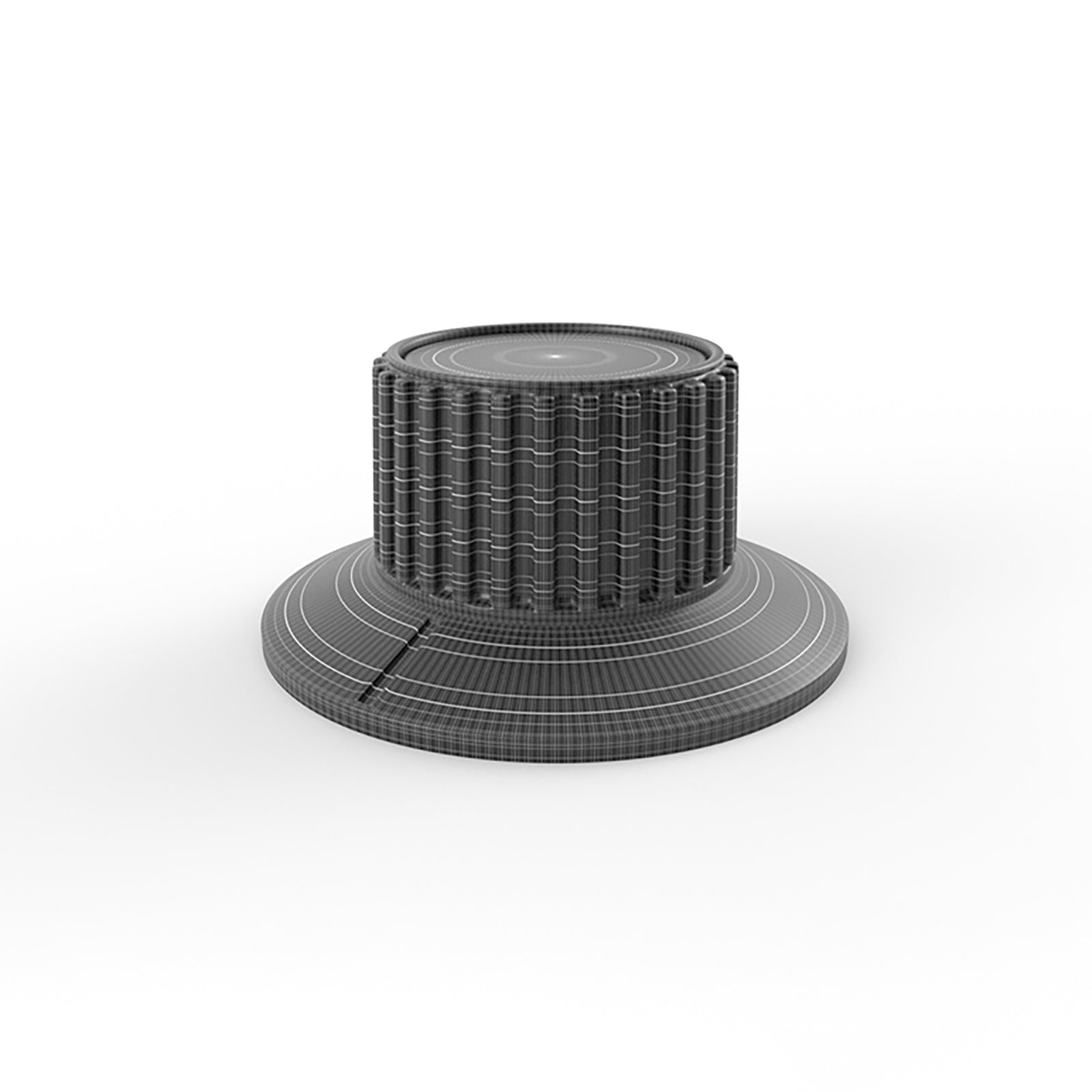 double dial audio ribbed knob mesh