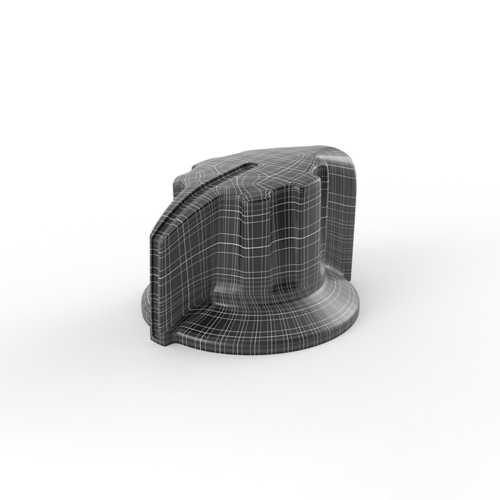 Switch knob 3d modeling mesh